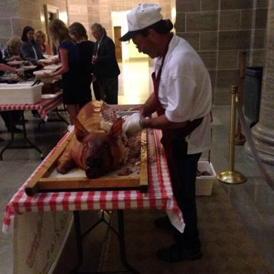 Free food for lawmakers in Capitol