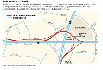 New I-270 ramp at Page Avenue now open | Metro | stltoday.com on hoover reservoir map, i 70 map, i 495 map, interstate 270 map,