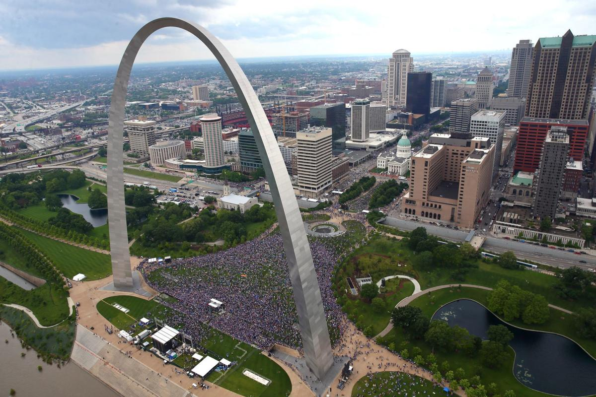 Aerial photos of St. Louis Blues Stanley Cup victory parade in St. Louis