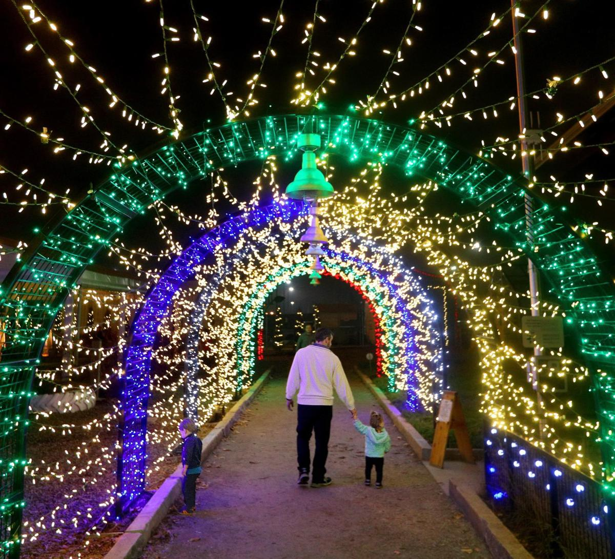 Science Center unveils its first holiday lights display