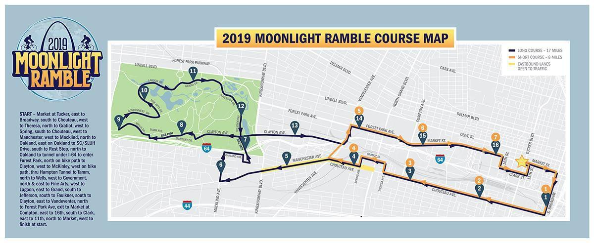Moonlight Ramble 2019 course map