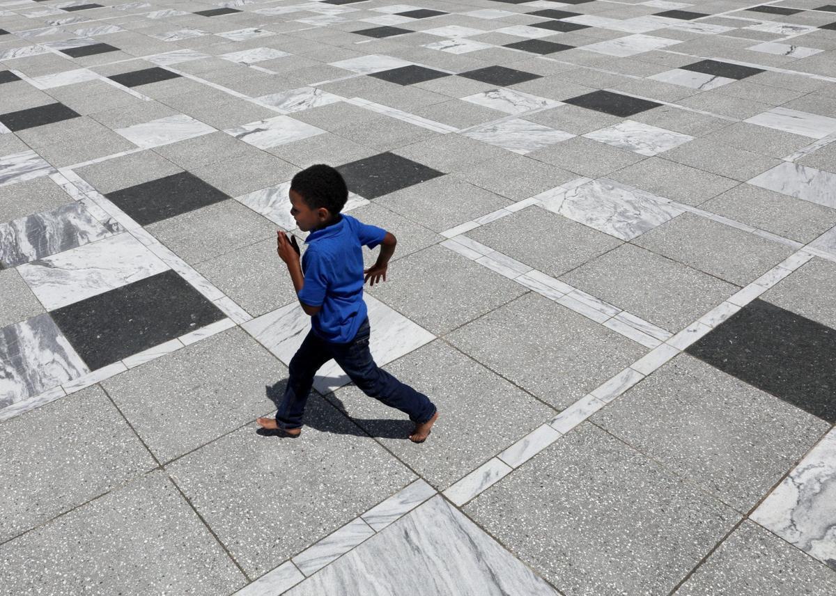 Redesigned Kiener Plaza opens to public