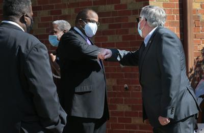 Governor meets clergy distributing masks to area churches