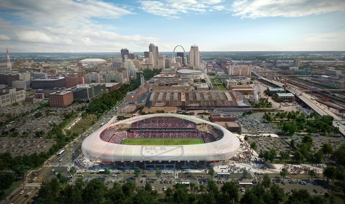 Rendering of proposed MLS Soccer Stadium by SC STL group