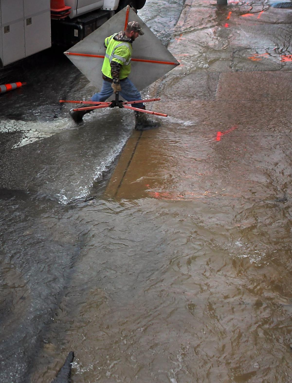 Clayton water main break closes part of Hanley Road