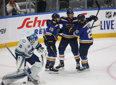Blues take on the Canucks at the Enterprise Center
