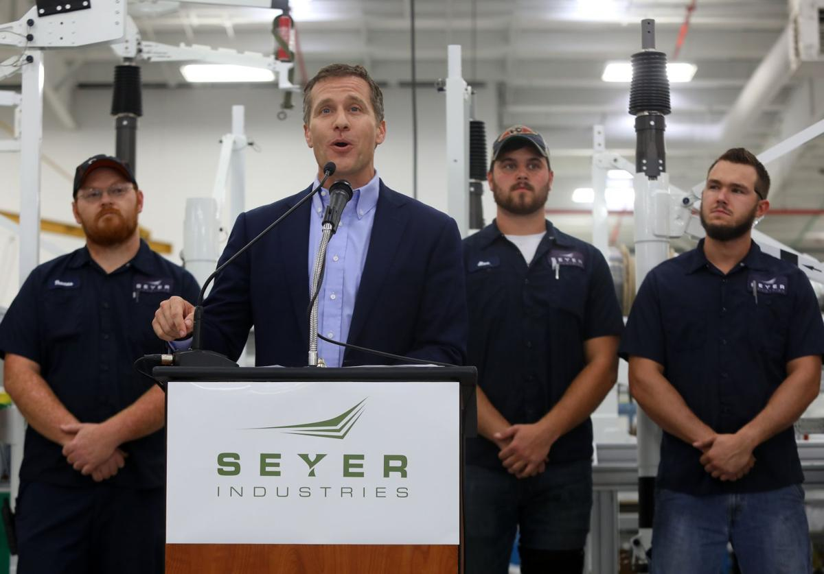 Greitens visits St. Peters manufacturing company