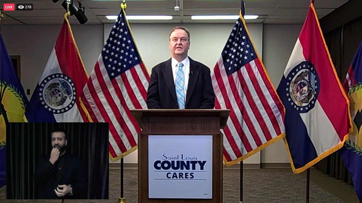 St. Louis County Executive Sam Page press conference on Dec. 7, 2020