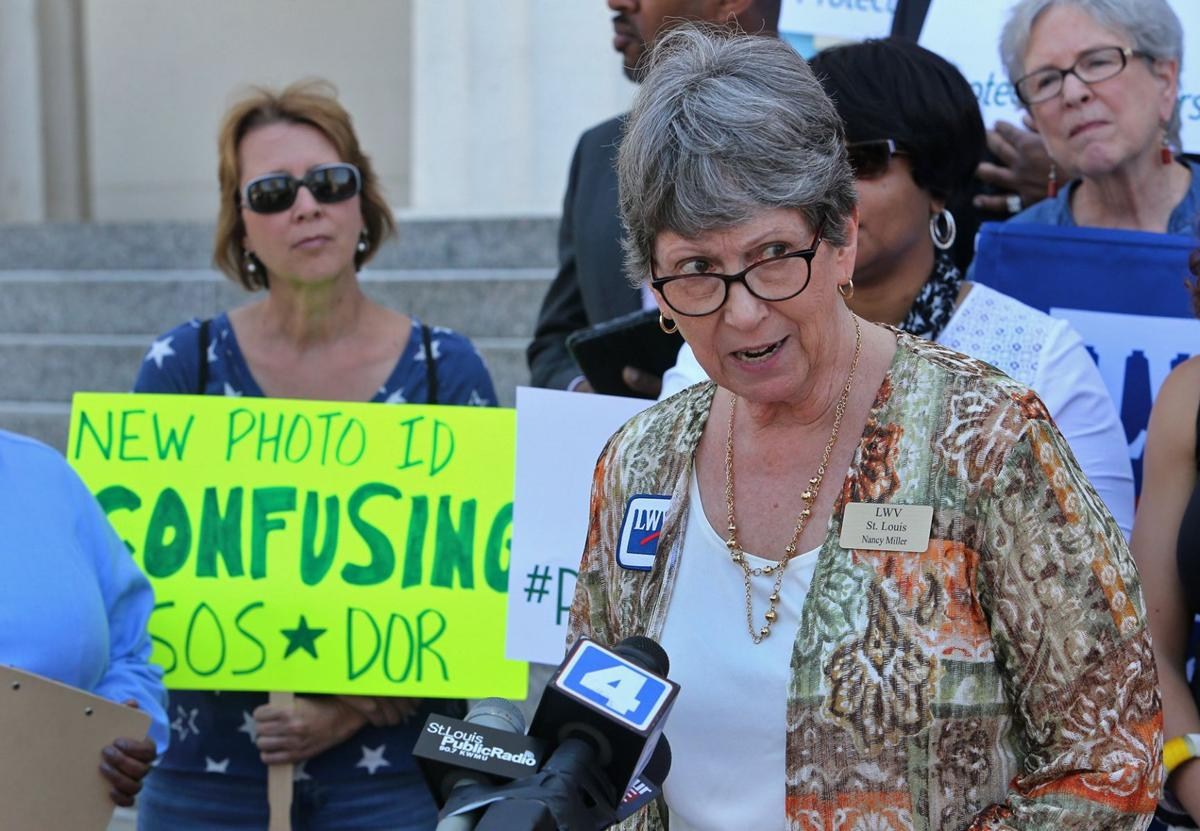 Speakers gather to protest new Missouri ID law