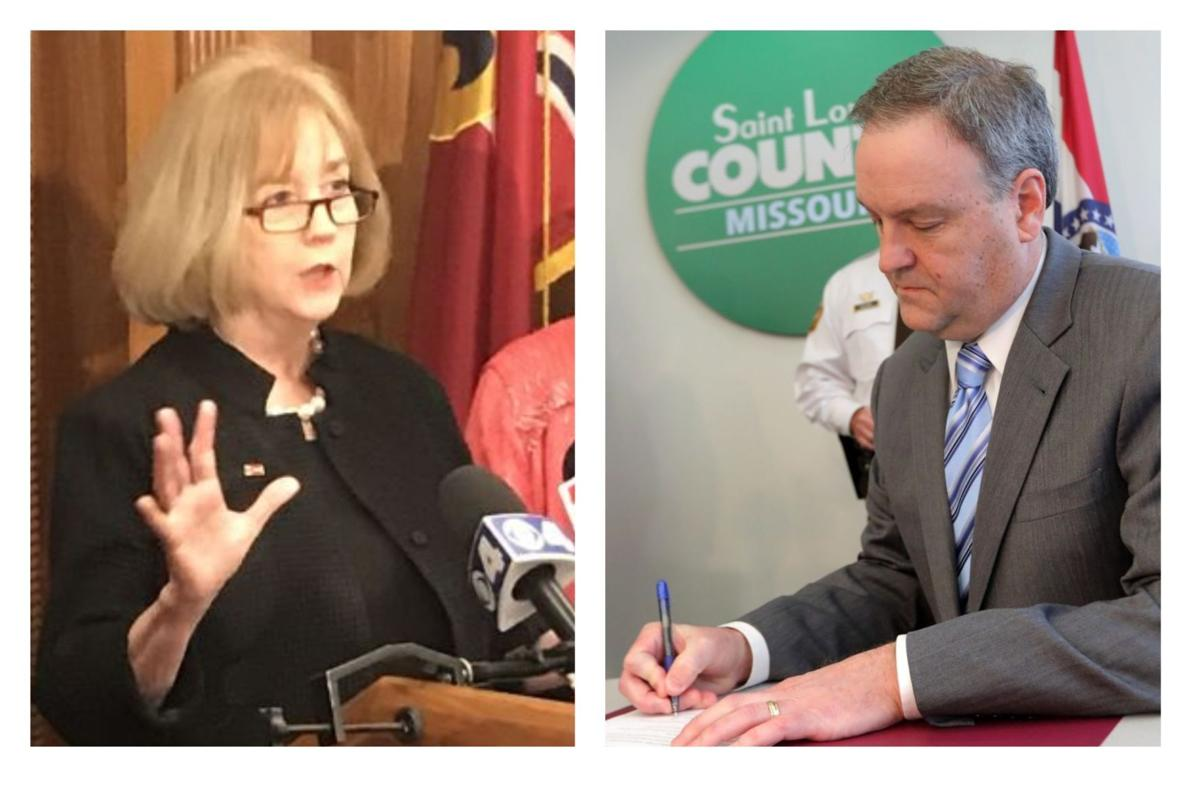 Lyda Krewson and Sam Page announce pandemic restrictions