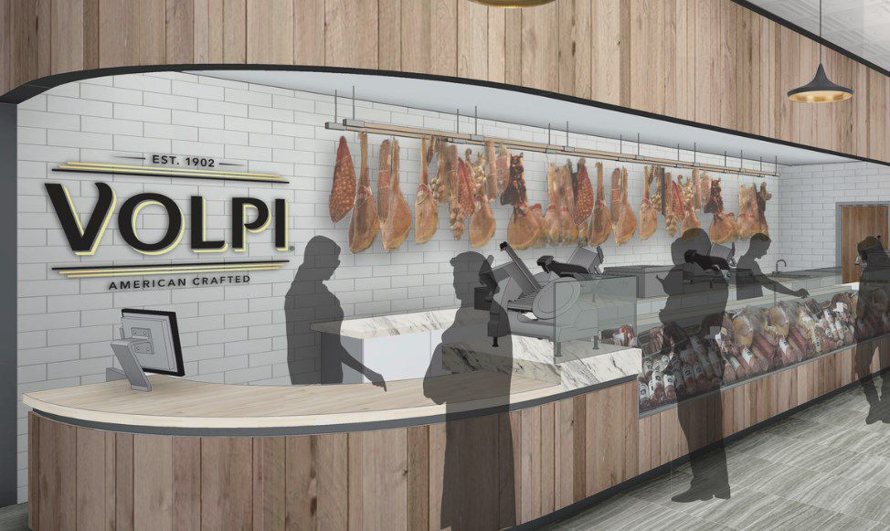 Rendering of remodeled Volpi store