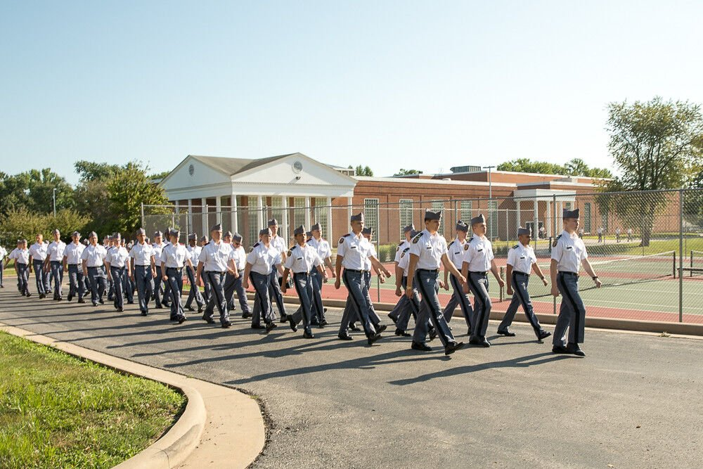 Missouri Military Academy Cadets March to Class Fall 2021