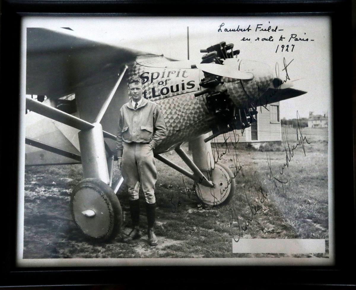 Memorabilia from great-grandchildren of Albert Bond Lambert, airport's namesake
