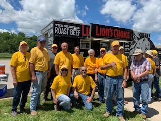 Residents and Relief Crews Fed by Lion's Choice Food Truck