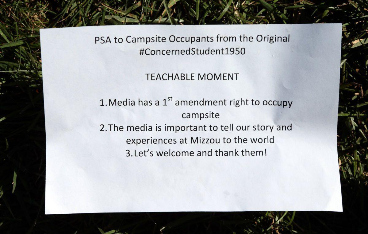 Protesting students open tent city, teach class