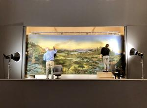 Watch conservators restore Mississippi panorama at St. Louis Art Museum