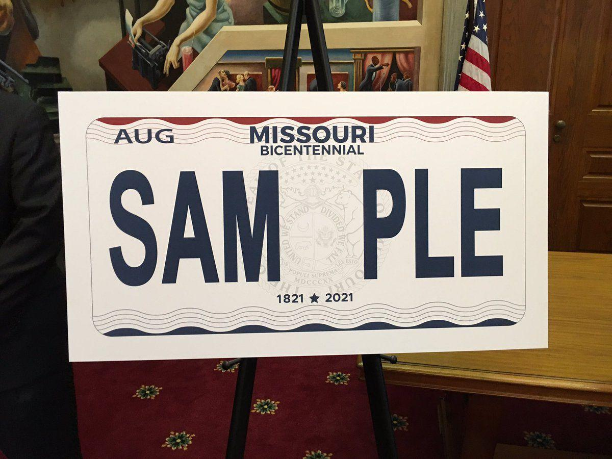 Missouri gets new license plates celebrating bicentennial ...