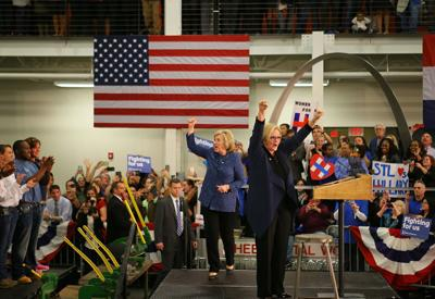 2015 - Hillary Clinton campaigns in St. Louis