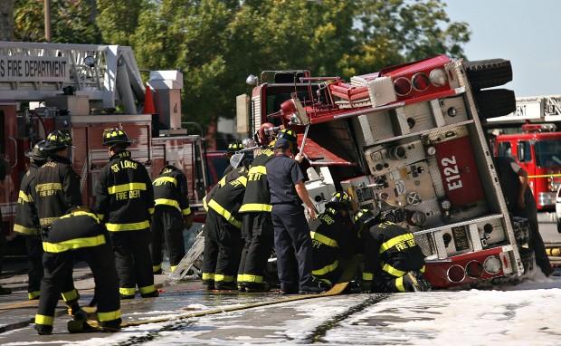 St. Louis firetruck collision