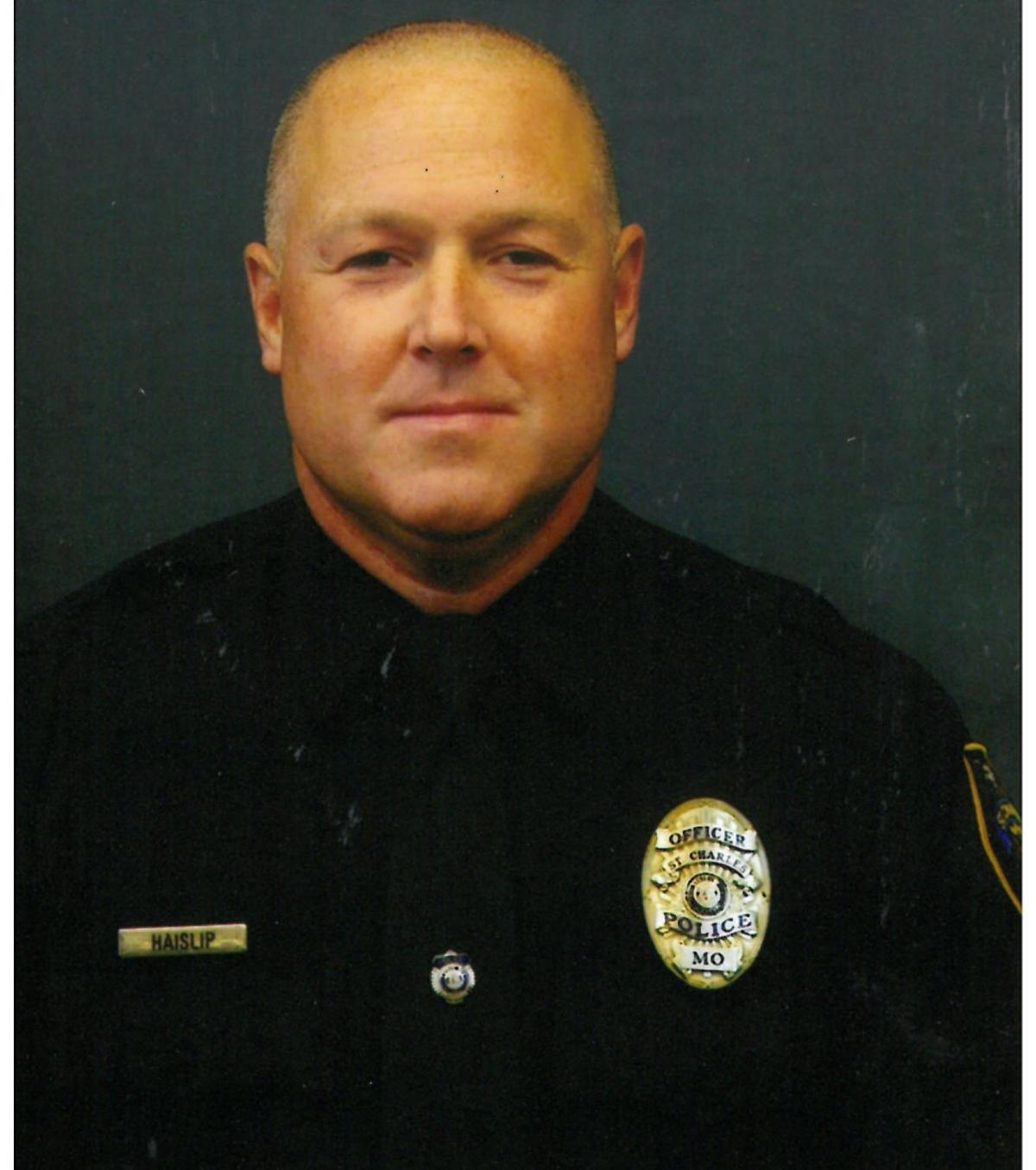 Jeffrey A. Haislip, St. Charles Police Department saved an 86-year-old man from a house fire on the night of Feb. 4, 2015