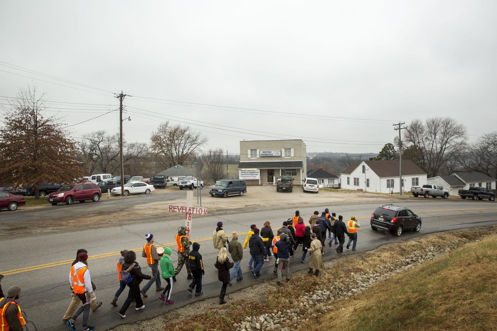 Ferguson marchers arrive at Missouri Capitol NAACPu0027s