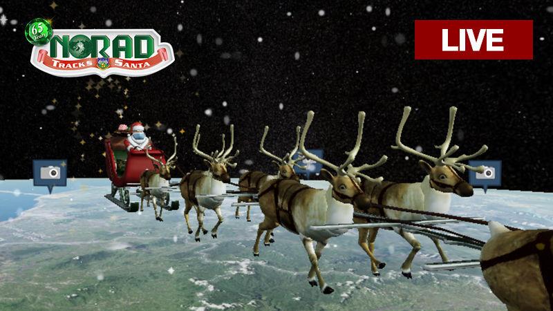 🎅 Santa Tracker: Follow Santa as he masks up and flies around the world