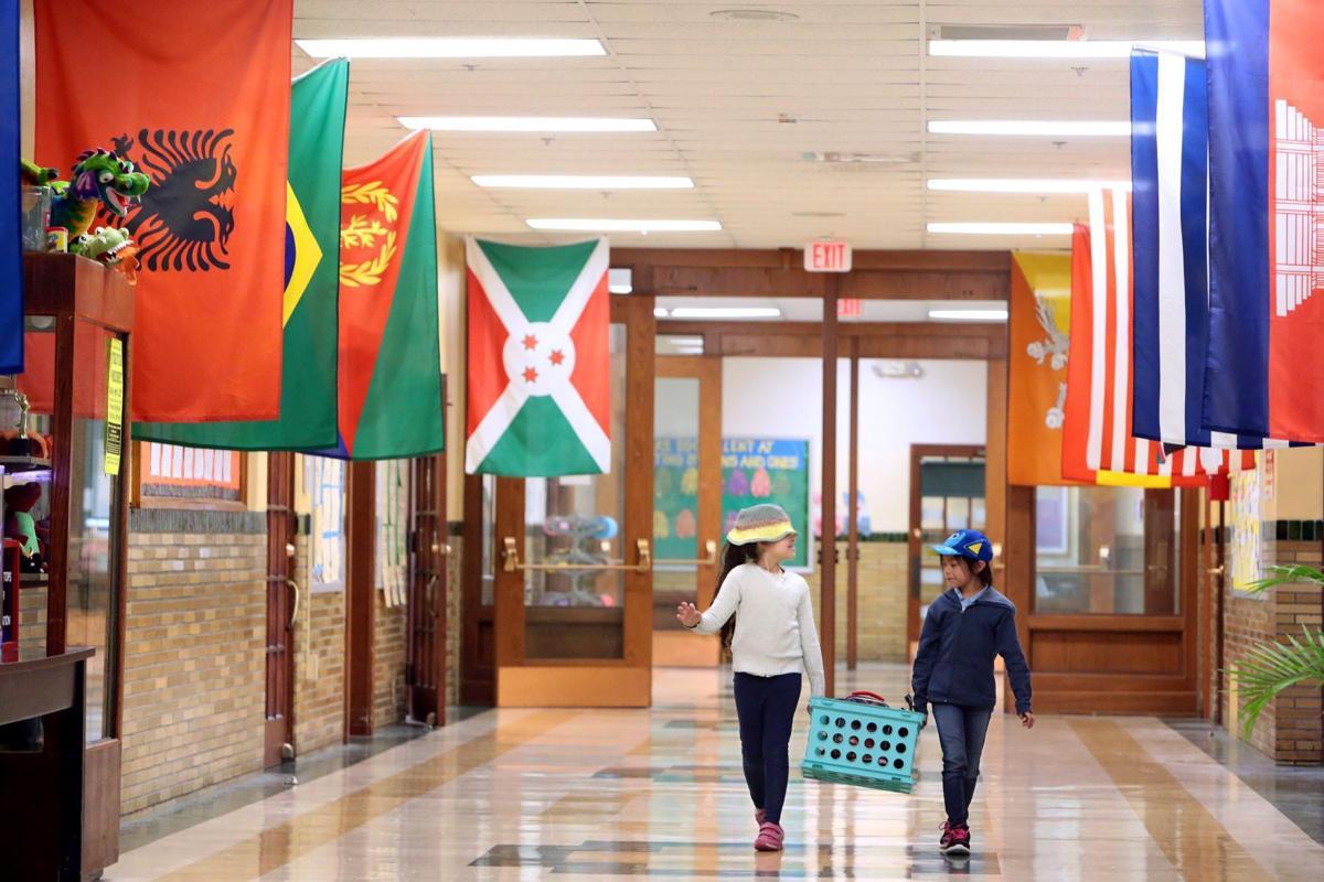 First-graders at Mason Elementary School