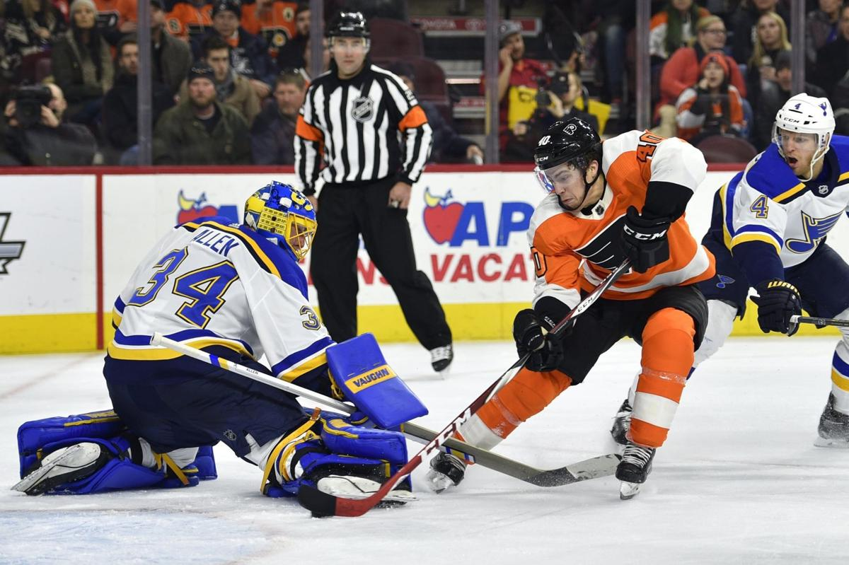 APTOPIX Blues Flyers Hockey