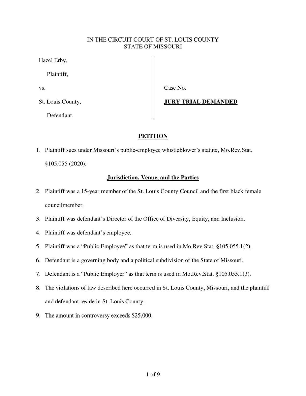 Hazel Erby lawsuit