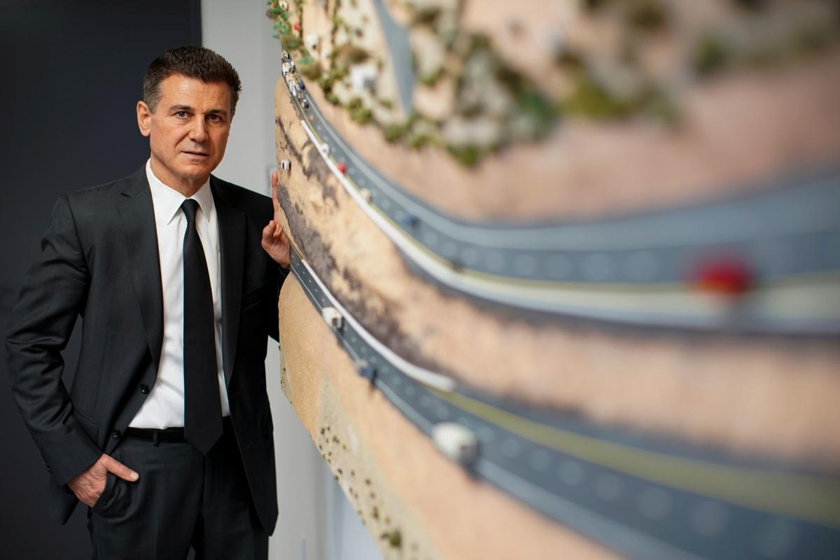 Lawyer Garo Mardirossian poses for a portrait at his office in Los Angeles