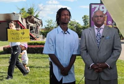 Dorian Johnson tells his version of the story to Al Sharpton