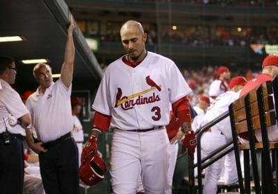 Cardinals' Felipe Lopez returns to the dugout