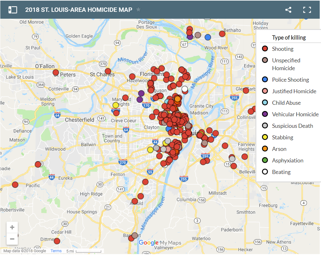 2018 St. Louis area homicide map | Special Features | stltoday.com Printable Map Of San Go on