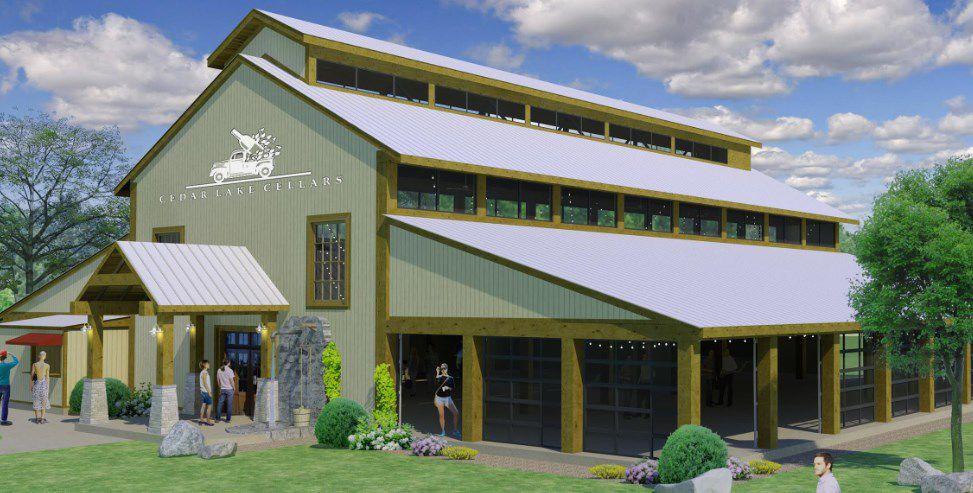 Rendering of the Barrel Room at Cedar Lake Cellars & Cedar Lake Cellars adding event space | Building Blocks | stltoday.com