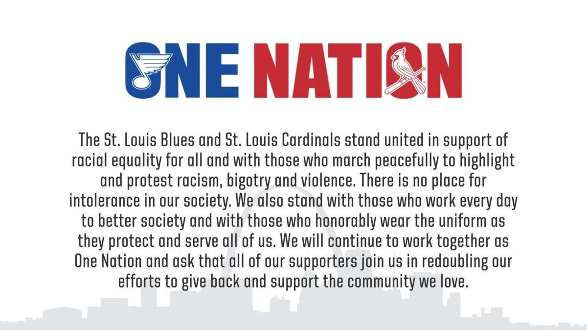 Cardinals and Blues statement regarding George Floyd