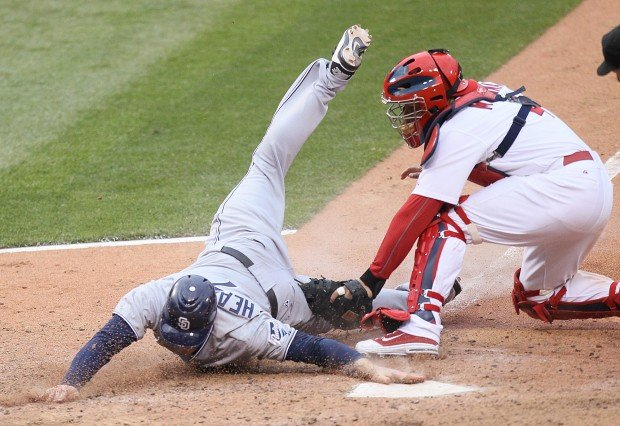 The St. Louis Cardinals played the San Diego Padres on Opening Day at Busch Stadium in St. Louis, Mo.