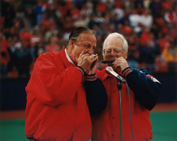 Dueling harmonicas: Stan Musial and Richard Hayman