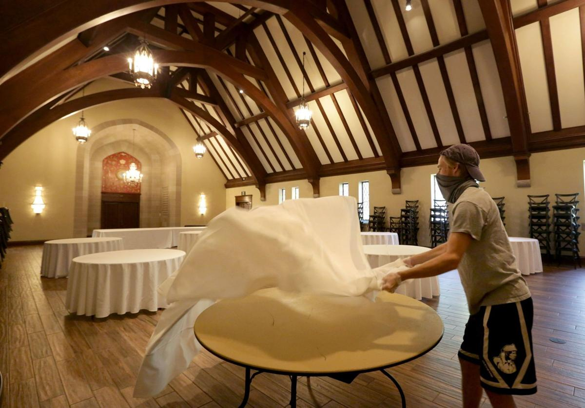 Russo's Catering sets up for wedding at The McPherson and event center