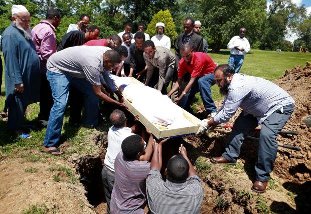 Slain Ethiopian refugee laid to rest