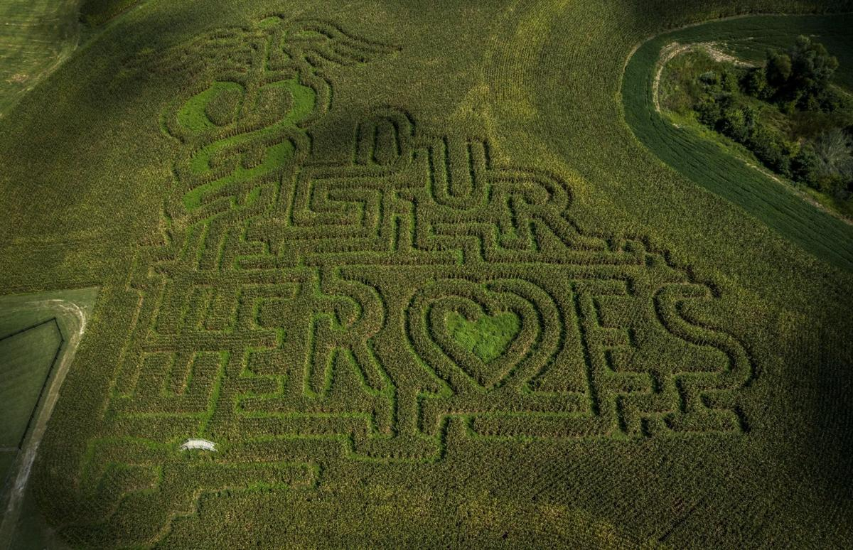 Corn maze honors healthcare workers