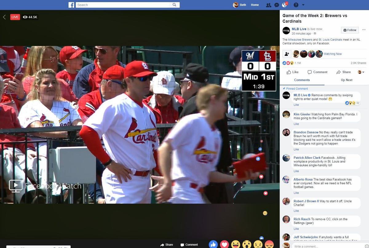 Facebook broadcast screenshot