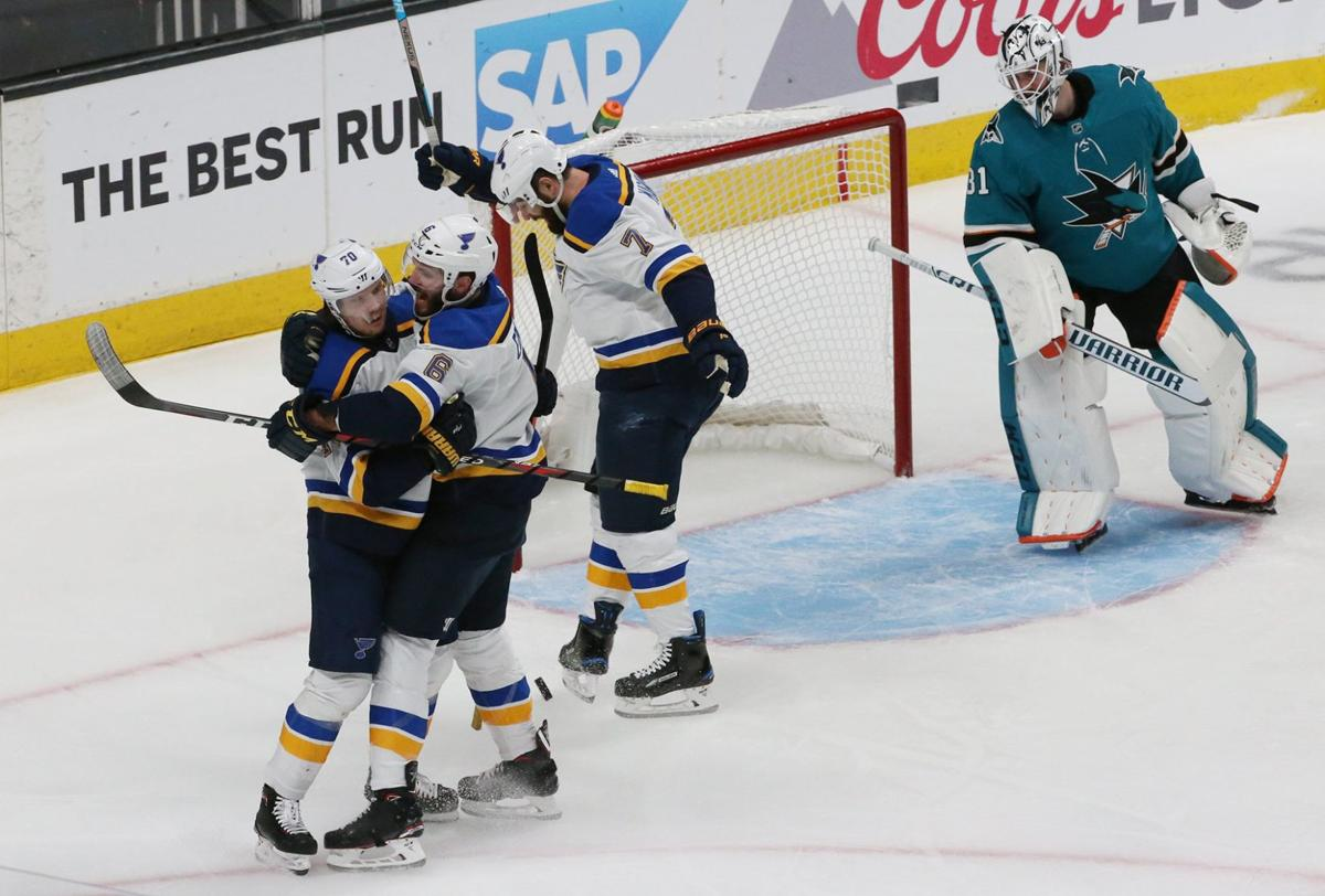 Blues are one win away after 5-0 win over Sharks in Game 5