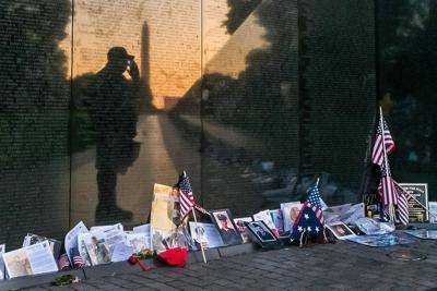 Memorial Day remembrance at the Vietnam War Memorial