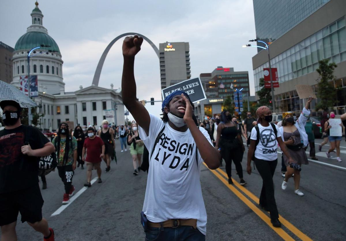 Protesters march against federal law enforcement agents coming to St. Louis