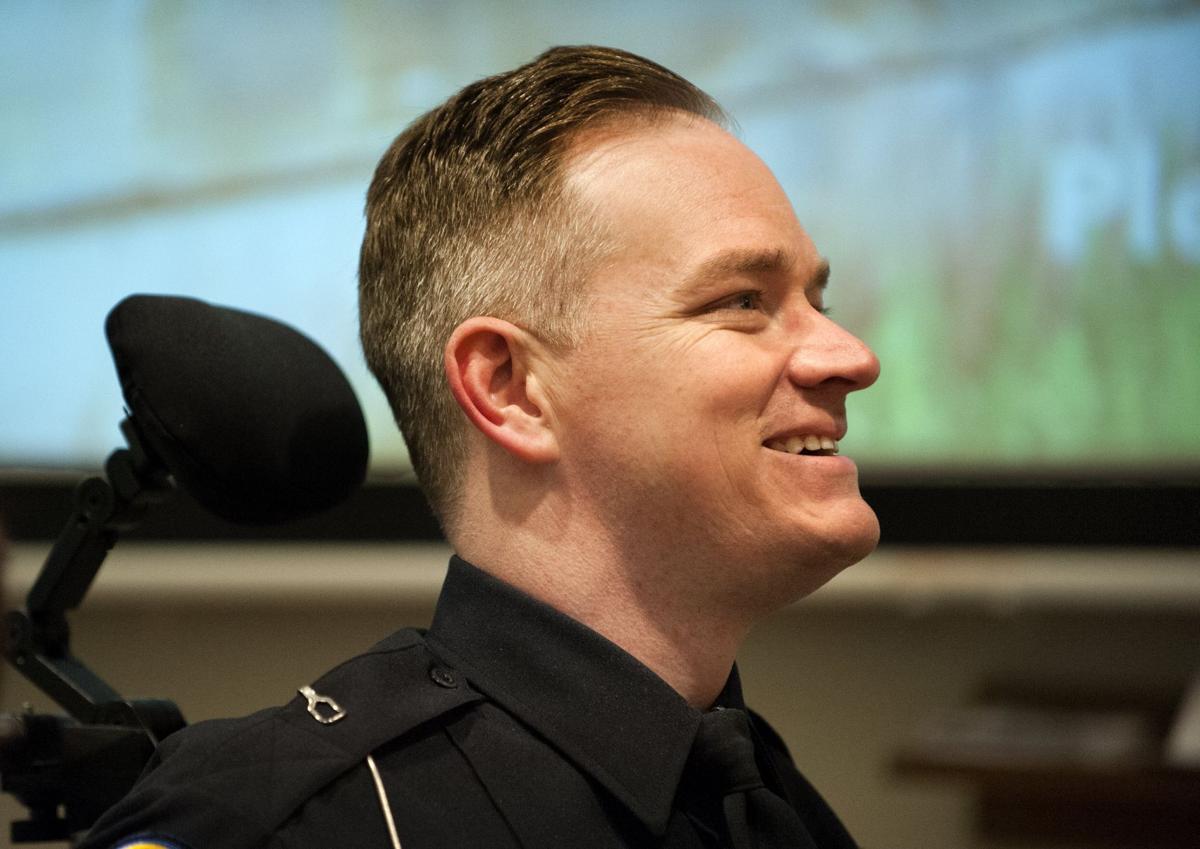 Hazelwood police officer Craig Tudor honored with Purple Heart award