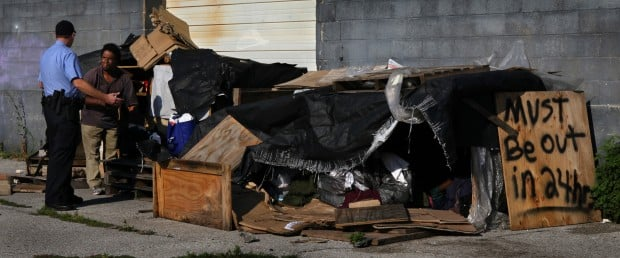 Homeless evicted from downtown building