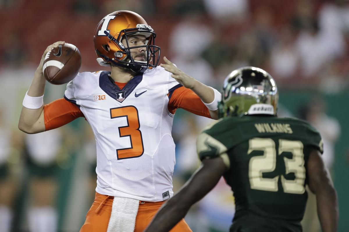 factory price f1b2d 68b88 George to remain Illinois' 'relief hitter' at quarterback ...
