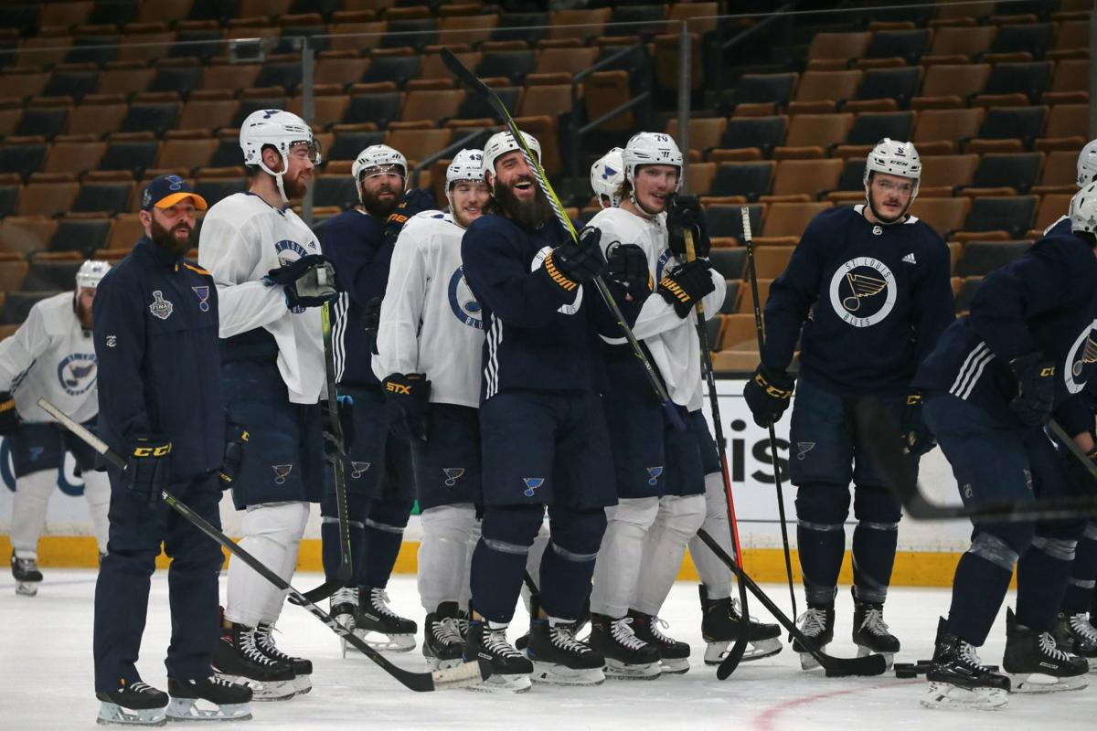 Blues practice at the TD Garden