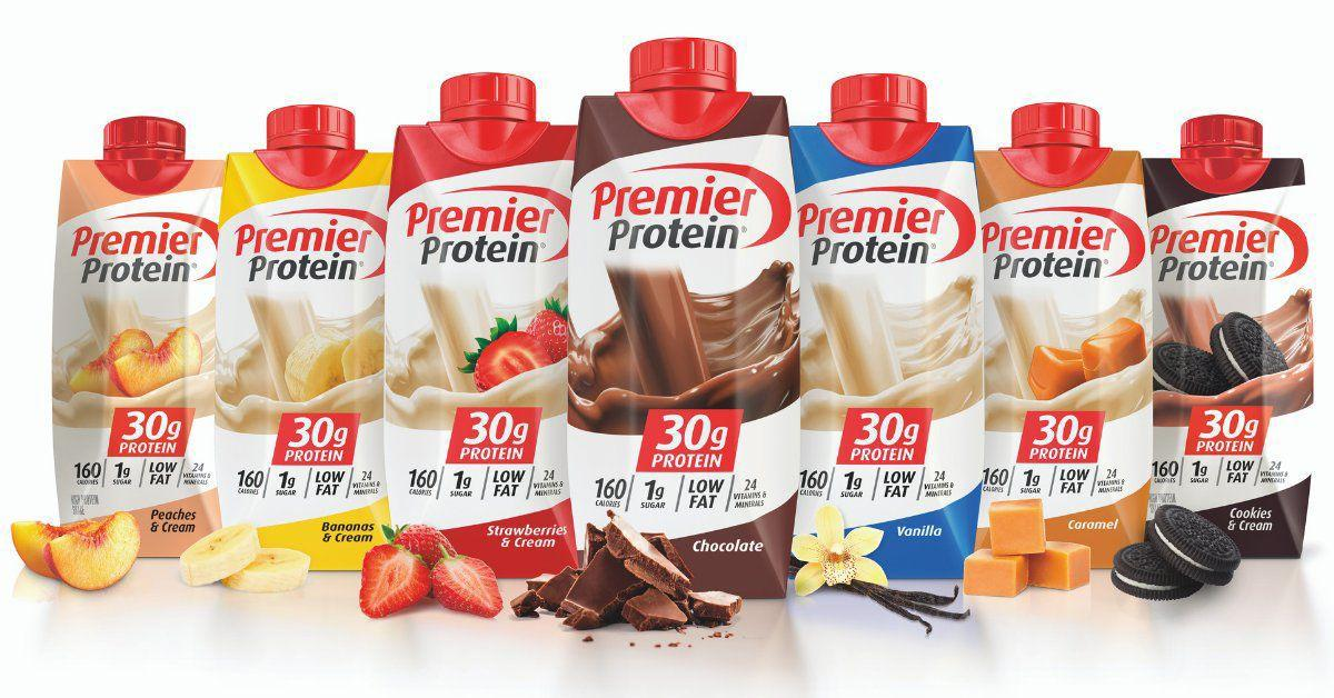 Post's Premier Protein shakes.