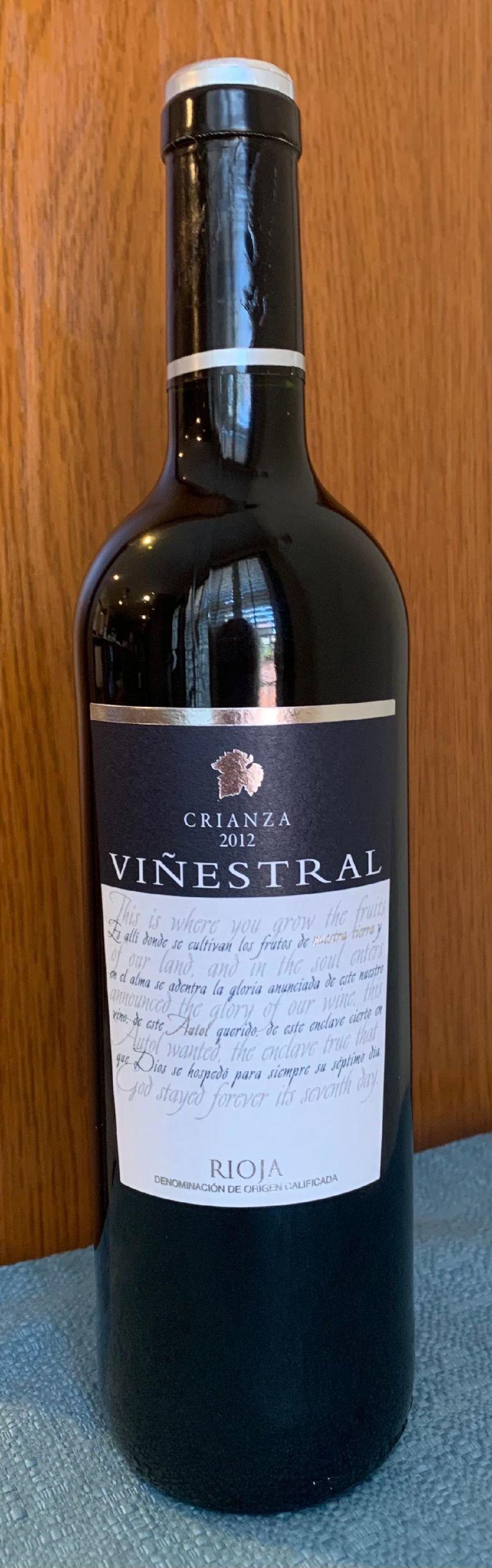 Viñestral 2012, Rioja Crianza, Spain